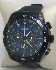 CITIZEN ECO-DRIVE CHRONOGRAPH BLUE DIAL RUBBER STRAP MEN'S WATCH CA4155-04L