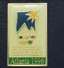 Olympic Pin Badge~Poster Pin~Albertville 1992, Savoie~1996 Atlanta~NEW on CARD