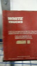 White Trucks Model 4664D-C Maintenance Service Shop Repair Manual
