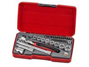 Teng Tools 3/8 Drive Flexi Head Ratchet Socket & Extension Tool Set