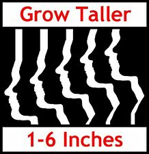 "GAIN HEIGHT """"GROW TALL®"" BE TALLER Adult Bone Growth Only £64.99 4 Month Course"