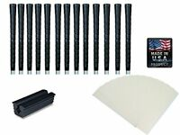 Tacki-Mac Golf Grips Black Pro Tour Wrap Grip Kit (13 grips, tape, instructions)