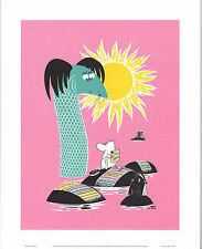 Moomin Poster Retrò 24 x 30 cm Moominmamma Tappeto Bucato Putinki