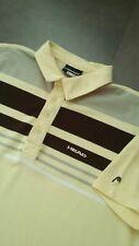 vtg Head yellow polo shirt size medium tennis mod 80s casuals indie