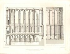 1851 d'architectes français imprimer Chapelle larcheveche une section longitudinale REIMS