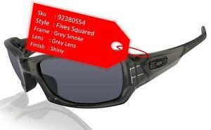 Oakley Fives Squared Grey Smoke Frame Warm Grey Lens Sunglasses 0OO9238