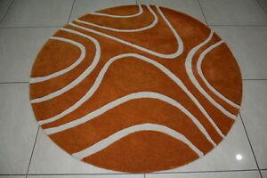 Indian Thick Soft Hand Tufted Round Modern Designer Bespoke Wool Carpet Area Rug