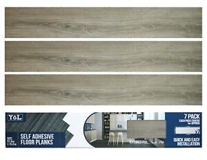 Floor Planks Tiles Self Adhesive Vinyl Light Grey Wood Flooring Kitchen Bathroom