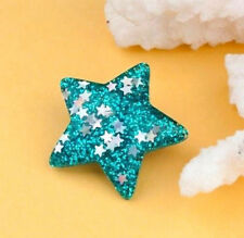 STELLA blu Sparkly Glitter Divertente Kitsch Pin Badge 35 mm
