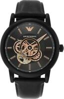Emporio Armani Luigi Super Meccanico Automatic Black Dial Men's Watch AR60012