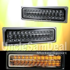 CHEVY C/K TAHOE SUBURBAN SMOKE LENS LED CORNER SIGNAL LIGHTS DIRECT PLUG IN PAIR