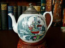 Rare 19th c Victorian Teapot - T.I. & J. Emberton 19th c Teapot Brussels Pattern