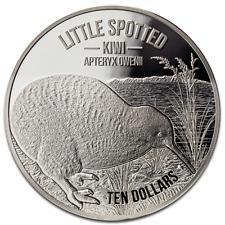10 $ $ Little Macchiato Kiwi seeland 2018 5 oncia oz Argento Silver PP Prova