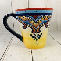 Euro Ceramica Zanzibar Collection 14oz. Coffee Mug Tea Cup Hand Painted