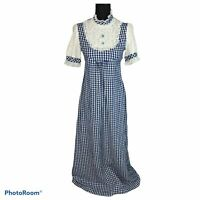 Vintage 70's Prairie Cottagecore Gingham Maxi Dress