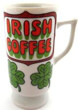 Irish Coffee Small Pedestal 1960s 1970s Coffee Mug Shamrocks St. Patrick's Day