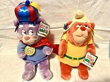"ZUMMI & GRUFFI GUMMI BEARS 15"" Disney Applause 1985 Near Mint TAGS plush vintage"
