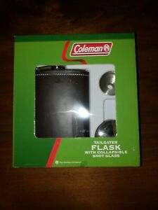 Coleman Tailgater Flask with Collapsible Shot Glasses