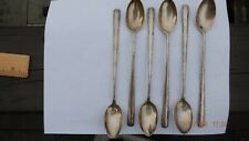 6 Gorham Camellia Sterling Iced Tea Spoon Soda Spoon Long Handle 7 1/2""