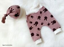 Baby Boy Girl  harem Leggings and hat Trousers Zara Style Handmade 0-3 months