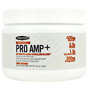 Muscletech Peak PRO AMP+ Ultimate Lean Muscle Builder Powder 20 Srvs UNFLAVORED