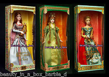 Bard Barbie Doll Spellbound Lover Faerie Queen Legends of Ireland Irish Lot 3 VG