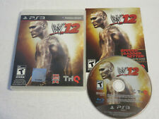 WWE 12 2012 WWF WRESTLING PS3 PLAYSTATION 3 100% COMPLETE