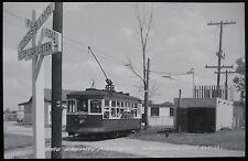 Worthington OH Ohio Railway Museum Cable Car #1545 Railroad Crossing Postcard