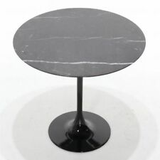 "Tavolo tondo Tulip Saarinen in marmo nero Marquinia  ""Made in Italy""  cm.120"
