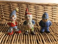 3 Wade Figures Noddy Big Ears & Mr Plod From 1950s 1960s Enid Blyton Collectible