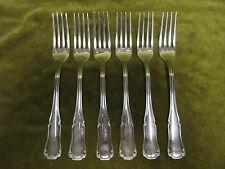 6 fourchettes de table métal argenté Ercuis Valençay (dinner forks)