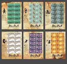 ALDERNEY - 2010 - Peter Pan. Complete sheet set, 6 x 10v. Mint NH