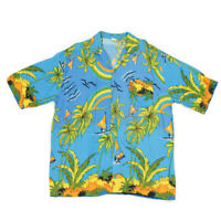 80s Vintage Hawaiian Surf Shirt | Large | Aloha Pattern Palm Retro Festival
