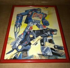 VINTAGE SOUNDWAVE TRANSFORMERS WATER PAINTING/PICTURE - HASBRO 1986