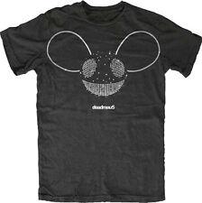 Deadmau5-Silver Foil Logo-X-Large Black Lightweight Slimfit T-shirt