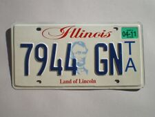 AUTHENTIC 2011 ILLINOIS LICENSE PLATE
