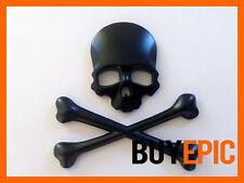 Metal emblema Skull, Calavera, pirata negro, Turbo, Tuning, Universal