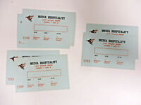 Baltimore Orioles 1979 World Series 6 Unused Media Hospitality Passes Tickets