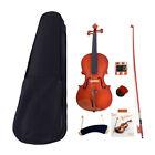 1/2 Acoustic Matt Violin Set Maple with Case Bow Rosin Tuner 4 Strings Shoulder for sale