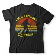 Social Distancing Champion Tshirt Unisex - Sasquatch, Bigfoot, Outdoors, Camping