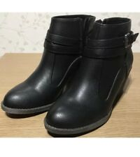 Size 7 Black RocketDog Womens Ladies Ankle Winter Boots Shoes New Genuine