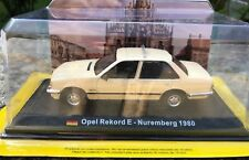 """DIE CAST """" OPEL REKORD E - NUREMBERG 1980 """" 1/43 TAXI COLLECTION SCALA 1/43"""