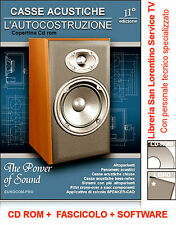 CALCOLARE E COSTRUIRE CASSE ACUSTICHE  + CROSS OVER CD ROM SOFTWARE FASCICOLO