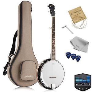 5-String Banjo - Full Size w/ Closed Back, Mahogany Resonator, Geared 5th Tuner