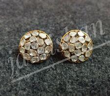 Victorian Polki Diamond 925 Sterling Silver Earring Gorgeous Wedding Jewelry
