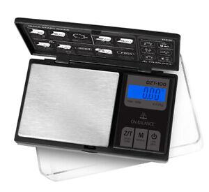 Drucken AUGUSTA On Balance DZT 100 LCD Digitale Taschenwaage 100g x 0,01g