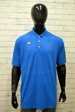 Polo KAPPA Uomo Taglia XXL Maglia Shirt Maglietta Camicia Man Manica Corta Blu