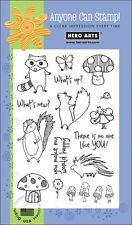 Hero Arts Clear Stamps - Woodland Creatures - Fairy, Mushrooms, Echidna