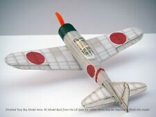 1x Tony Ray Aero Model Balsa Laser Cut Zero Aircraft Indoor RC Park w/Motor Prop