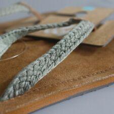 Reef Gypsy Macrame Leather Women's Thong Flip Flops. 5 Olive